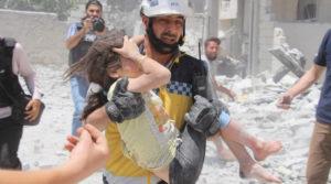 ضحايا بقصفٍ جوي من طائرات النظام على مدينة أريحا - تموز 2019 (الدفاع المدني)