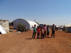 إحدى المخيمات العشوائية في الشمال السوري- زيتون